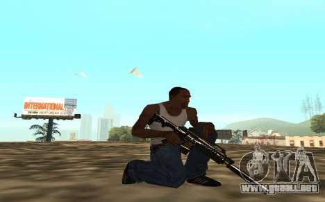 Golden weapon pack para GTA San Andreas sexta pantalla