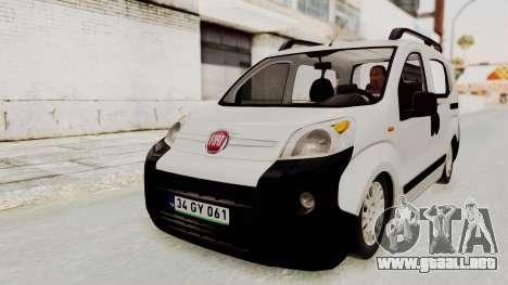 Fiat Fiorino 2014 para la visión correcta GTA San Andreas