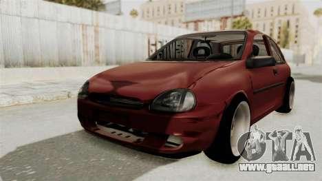 Chevrolet Corsa Hatchback Tuning v1 para GTA San Andreas vista posterior izquierda