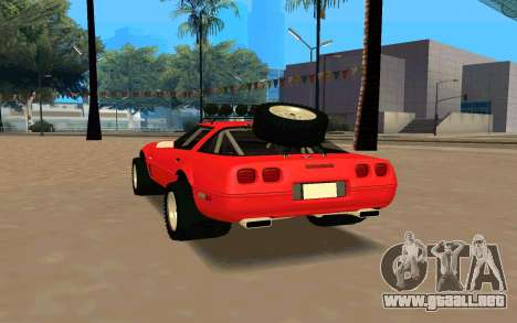 Chevrolet Corvette C4 para GTA San Andreas vista posterior izquierda