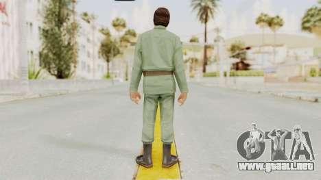 Scarface Tony Montana Army Costume para GTA San Andreas tercera pantalla