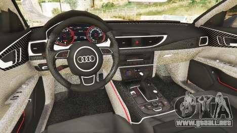 GTA 5 Audi A7 2015 vista lateral trasera derecha