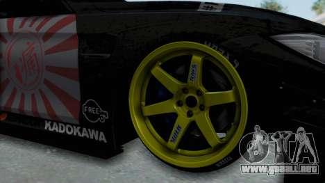 BMW M4 Kurumi Itasha para GTA San Andreas vista hacia atrás