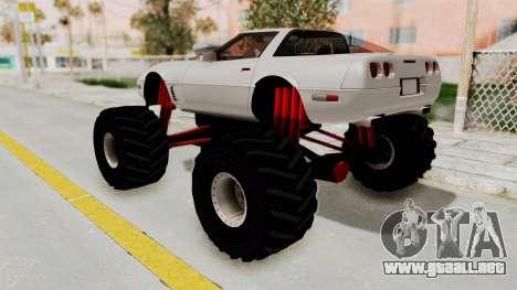 Chevrolet Corvette C4 Monster Truck para la visión correcta GTA San Andreas