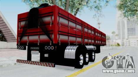 Kenworth T800 Carreta de Arena para GTA San Andreas left