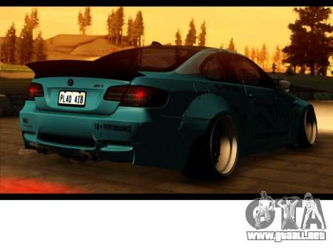 BMW M3 E92 Libertad Pie LB Rendimiento para GTA San Andreas left