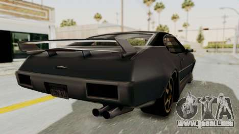 Clover Tunable para GTA San Andreas vista posterior izquierda
