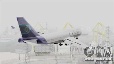 Boeing 747-400 Air India para la visión correcta GTA San Andreas