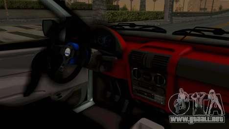 Chevrolet Corsa Wagon Tuning para visión interna GTA San Andreas