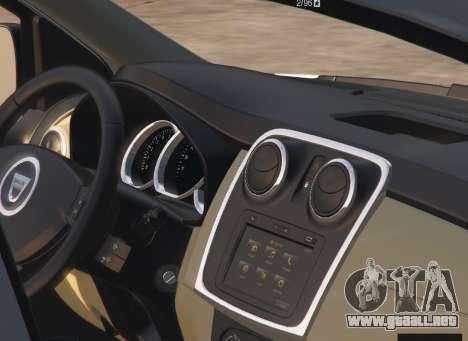 GTA 5 Dacia Sandero Stepway 2014 vista lateral derecha