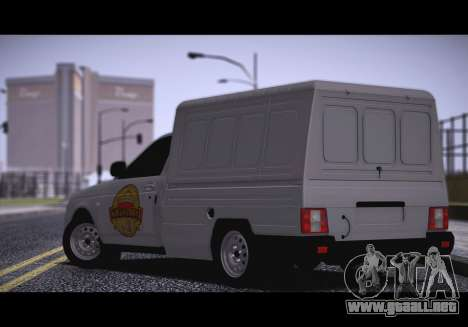 Lada Priora Stok Budka para GTA San Andreas left