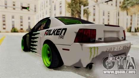 Ford Mustang 1999 Drift Monster Energy Falken para GTA San Andreas left