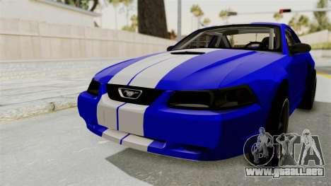 Ford Mustang 1999 Drag para GTA San Andreas vista posterior izquierda