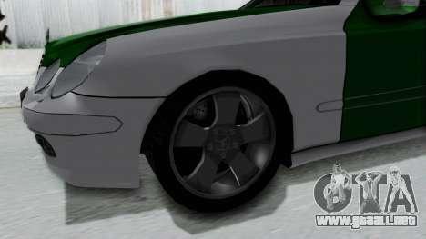 Mercedes-Benz E500 Police para GTA San Andreas vista hacia atrás