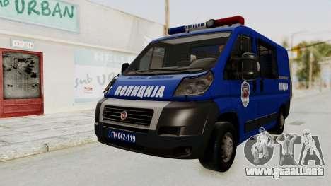 Fiat Ducato Police para la visión correcta GTA San Andreas