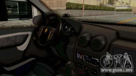 Dacia Logan Facelift Stance para visión interna GTA San Andreas