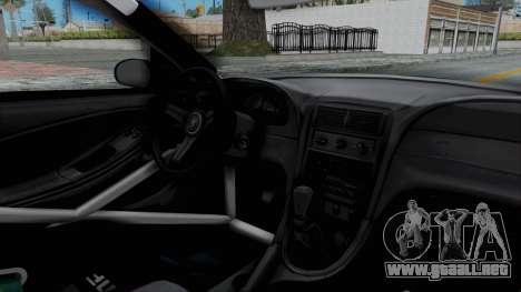 Ford Mustang 1999 Drift Falken para visión interna GTA San Andreas