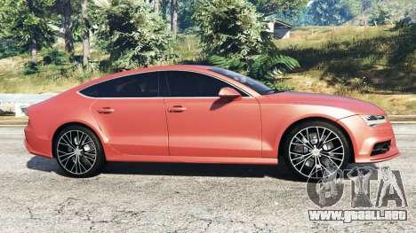 GTA 5 Audi A7 2015 vista lateral izquierda