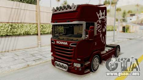 Scania R730 para la visión correcta GTA San Andreas