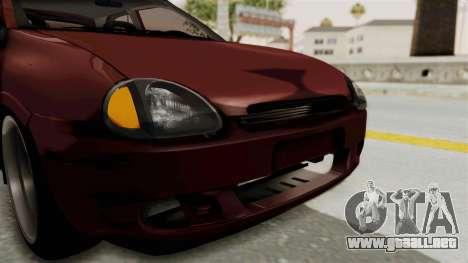 Chevrolet Corsa Hatchback Tuning v1 para la vista superior GTA San Andreas