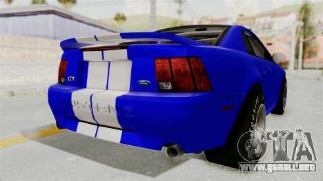 Ford Mustang 1999 Drag para la visión correcta GTA San Andreas