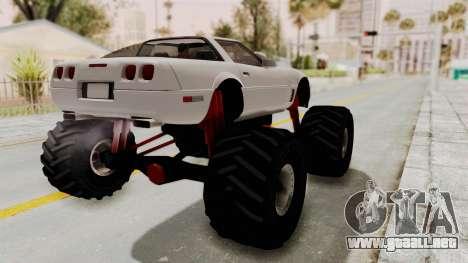 Chevrolet Corvette C4 Monster Truck para GTA San Andreas vista posterior izquierda