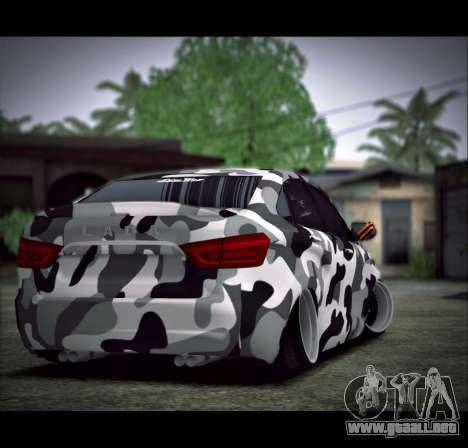 Lada Vesta Camouflage para GTA San Andreas left