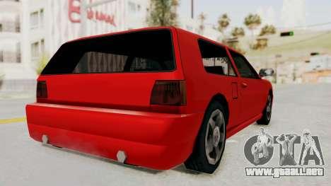 Flash Sport para GTA San Andreas left
