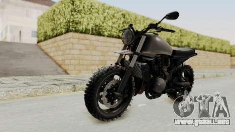 Mad Max Inspiration Bike para GTA San Andreas vista posterior izquierda