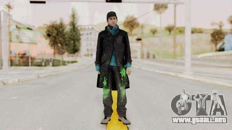 Watchdogs Aiden Pierce DedSec Outfit para GTA San Andreas segunda pantalla
