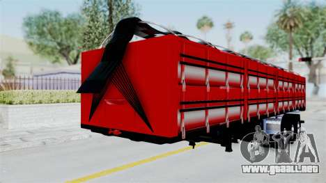 Kenworth T800 Carreta de Arena para la visión correcta GTA San Andreas