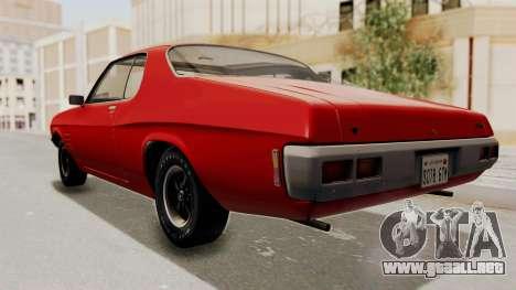 Holden Monaro GTS 1971 SA Plate HQLM para la visión correcta GTA San Andreas