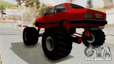 Chevrolet Chevette SL 1988 Monster Truck para la visión correcta GTA San Andreas