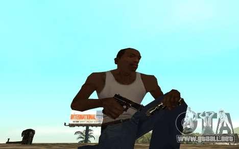 Golden weapon pack para GTA San Andreas tercera pantalla