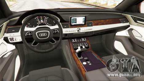 Audi S8 W12 2016 para GTA 5