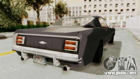 Dominator Classic para GTA San Andreas vista posterior izquierda