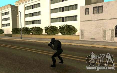 Pantera negra confrontación para GTA San Andreas tercera pantalla