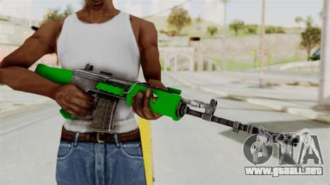 IOFB INSAS Dark Green para GTA San Andreas tercera pantalla