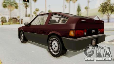 Blista Compact GPX (Beta VC Blistac) para GTA San Andreas vista posterior izquierda