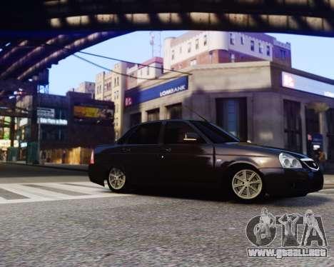 Lada Priora para GTA 4 Vista posterior izquierda