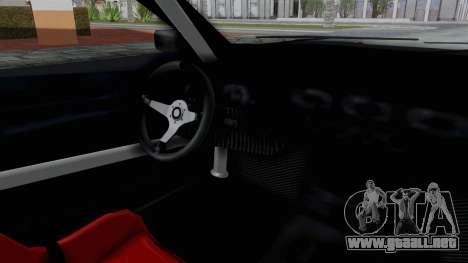 Elegy v2 para GTA San Andreas vista hacia atrás