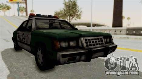 GTA VC Police Car para GTA San Andreas vista posterior izquierda