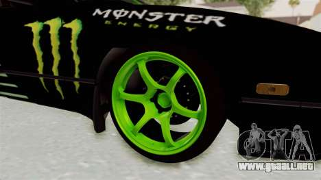 Nissan 240SX Drift Monster Energy Falken para GTA San Andreas vista hacia atrás
