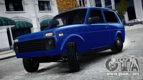 Niva 2015 Aze style para GTA 4 Vista posterior izquierda