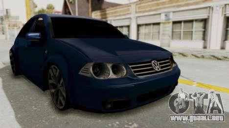 Volkswagen Bora 1.8T para la visión correcta GTA San Andreas