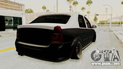 Dacia Logan Facelift Stance para GTA San Andreas left