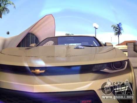 Chevrolet Camaro SS 2016 para GTA San Andreas vista hacia atrás