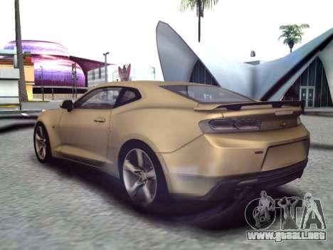 Chevrolet Camaro SS 2016 para GTA San Andreas vista posterior izquierda