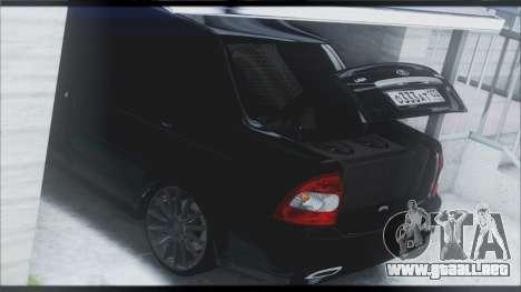 Lada Priora Sedan para GTA San Andreas interior