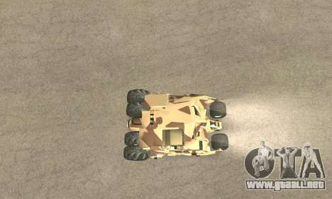 Army Tumbler Rocket Launcher from TDKR para las ruedas de GTA San Andreas